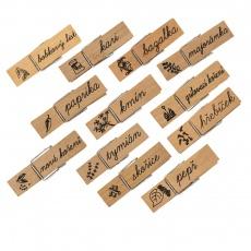 Kolíčky dřevo 12ks koření