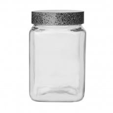 Dóza sklo/UH GRANIT hranatá 1,5l