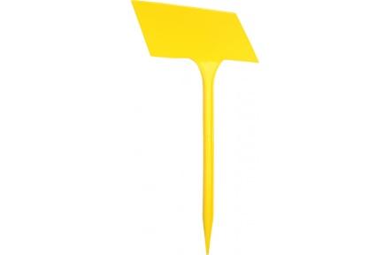 Jmenovka zapichovací SL 275 žlutá 27x13x8 cm lomená