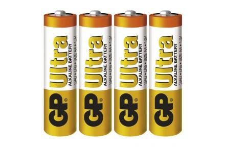Alkalická baterie GP Ultra LR6 (AA) - 4ks