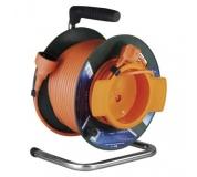 PVC prodlužovací kabel na bubnu – spojka, 50m, 1,5mm2