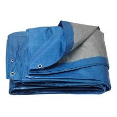 PE plachta zakrývací kulatá   5-5. 5m/120g/1m2 modr-stř