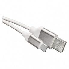 USB kabel 2.0 A/M - C/M 1m bílý