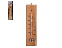 Teploměr dřevo pokoj./venko. 26cm