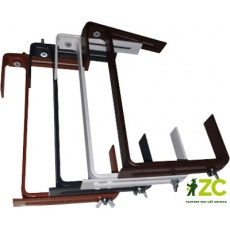 Držák na truhlík - kovový univerzální nastavitelný terakota (2 ks)