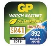 Knoflíková baterie do hodinek GP 392F (SR41, SR736) - 10ks