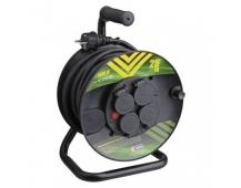 Gumový prodlužovací kabel na bubnu – 4 zásuvky, 25m, 1,5mm2