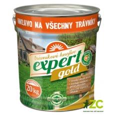 Hnojivo trávníkové Expert Gold - plechový kbelík 20 kg (cena bez slev)