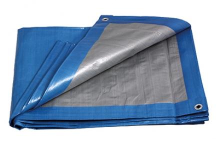 PE plachta PROFI   4x6/140 modr/stř