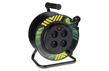 PVC kabel na bubnu s pevným středem – 4 zás., 25m, 1,5mm2