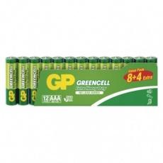 Zinková baterie GP Greencell AAA (R03) - 12ks