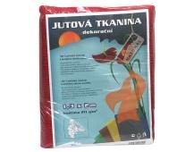 Jutová tkanina - 1,3 x 1 m červená