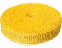 Jutová stuha 4 cm x 25 m - žlutá