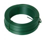 Napínací drát 3. 4mmx52M zelený PVC
