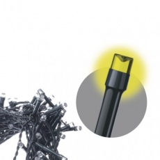 LED vánoční rampouchy, 3× AA, venkovní, teplá b., časovač