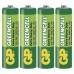 Zinková baterie GP Greencell AA (R6) - 4ks