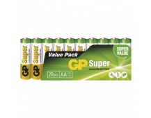 Alkalická baterie GP Super AA (LR6) - 20ks