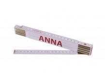 Skládací 2m ANNA (PROFI, bílý, dřevo)