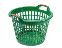 Koš zahradní 35l 50/35 v 36cm zelený plast 3375210