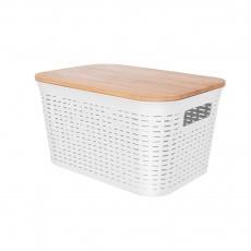 Box UH/dřevo+víko 28,5x21x15cm