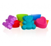 BANQUET Sada silikonových formiček CULINARIA 3,3 cm, 8 ks, mix barev