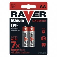 Lithiová baterie RAVER AA (FR6) - 2ks