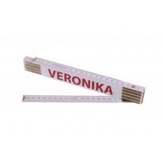 Metr skládací 2m VERONIKA (PROFI, bílý, dřevo)