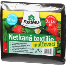 Neotex / netkaná textilie Rosteto - černý 50g šíře 3 x 1,6 m