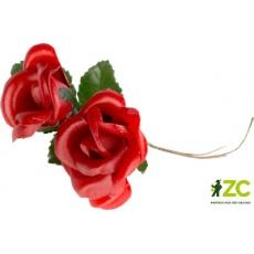Přízdoba látková - růžička