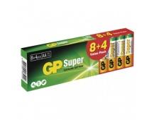 Alkalická baterie GP Super AA (LR6) - 12ks