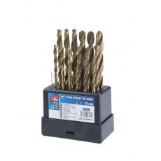 Sada HSS TITAN vrtáků 1-10mm (po 0. 5mm) 19ks plast