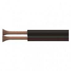 Dvojlinka ECO 2x0,5mm, černo/rudá, 100m - 100m