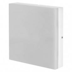 LED přisazené svítidlo, čtvercové bílé 24W teplá b., IP44