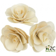 Dekorace - Palm Deco Rose 6 cm - 3 ks
