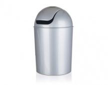 BRILANZ Koš odpadkový PEGAS 15 l, mix barev bílá a stříbrná