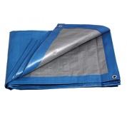 PE plachta PROFI   4x5/140 modr/stř