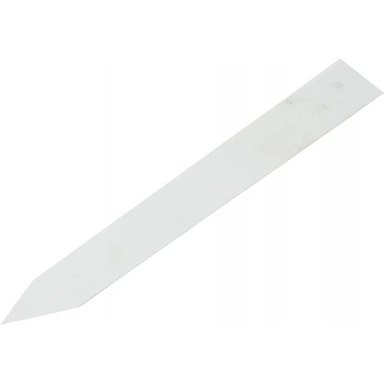 Jmenovka zapichovací 2x12 cm bílá rovná
