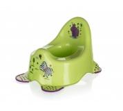 KEEEPER Nočník s protiskluzovými prvky 38 x 27 x 24 cm, HIPPO zelený