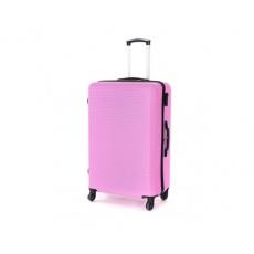 PRETTY UP Kufr na kolečkách ABS03, velký, růžový