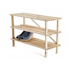 VETRO-PLUS Botník dřevěný SAMUEL 74 x 48,5 x 26 cm, 3 police