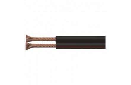 Dvojlinka nestíněná 2x0,15mm černo/rudá, 200m - 200m