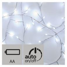 LED vánoční nano řetěz – ježek, 2,4m, studená bílá, časovač