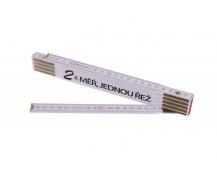 Skládací 2m 2X MĚŘ (PROFI, bílý, dřevo)