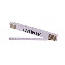 Metr skládací 2m TATÍNEK (PROFI, bílý, dřevo)