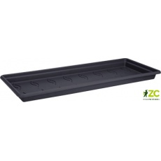 Miska pod truhlík Green Basics Garden XXL - living black 60 cm