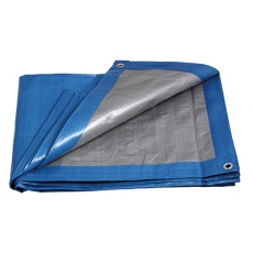 PE plachta zakrývací PROFI 2x3m 140g/1m2 modro-stříbrná