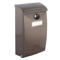 Poštovní schránka PVC hnědá 24x10. 5x34. 5cm