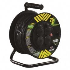 Gumový prodlužovací kabel na bubnu – 4 zásuvky, 25m, 2,5mm2