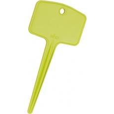 Jmenovka zapichovací Green Basics S - lime green 13 x 6 cm (5ks)