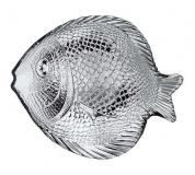 Talíř skleněný RYBA 19,6 x 16 cm